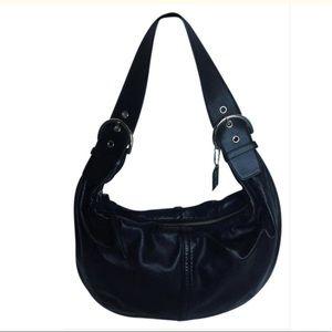 COACH Napa Leather Tortilla Hobo Handbag